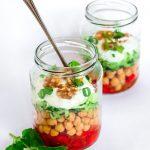 Gurken-Kichererbsen-Salat