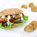 Falafel-Pita Burger